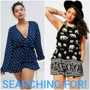 ISO! 🤞🏻🙏LOOKING FOR THESE ASOS CURVE ROMPERS!